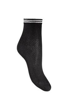 Calza donna corta nero in cotone, poliammide, fibra metallizzata ed elastene-LOVABLE