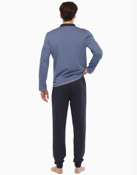 Pigiama in jersey, blu polvere, , LOVABLE
