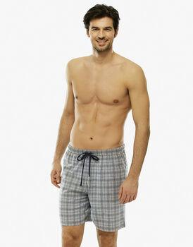 Pantalone corto grigio stampato in jersey con coulisse in vita-LOVABLE