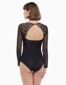 Body in tulle e pizzo, nero, , LOVABLE