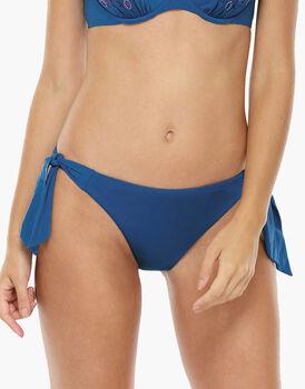 Bikini Slip Fiocchi Blu zaffiro in microfibra-LOVABLE