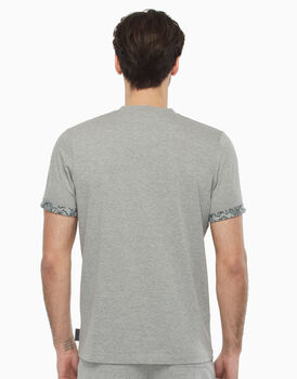T-shirt in jersey, grigio melange, , LOVABLE
