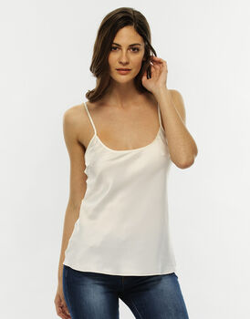 Top in cotone satin, avorio, , LOVABLE