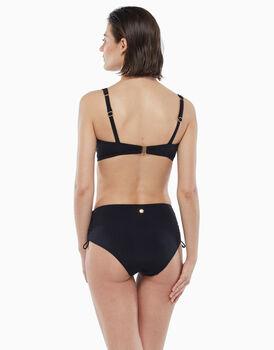 Bikini reggiseno ferretto, slip alto, in microfibra, nero, , LOVABLE