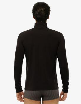 T-shirt collo alto manica lunga, cioccolato, in cotone moda-LOVABLE