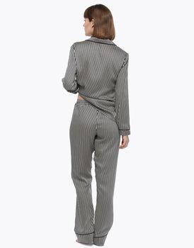 Pantalone lungo, riga, in satin, , LOVABLE