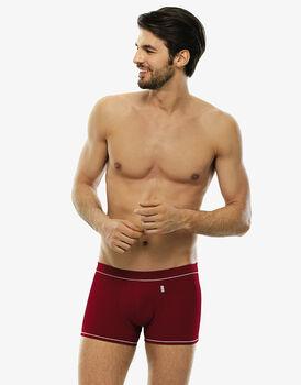 Short boxer rosso in cotone elasticizzato-LOVABLE