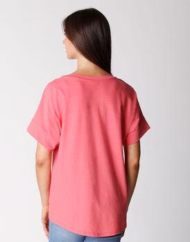 T-shirt manica 3/4 in cotone organico, corallo, , LOVABLE