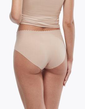 Slip vita alta Invisible Comfort in cotone, color nude, , LOVABLE