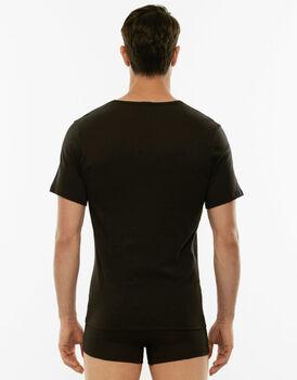 T-shirt girocollo 100% Pure Cotton nera in cotone-LOVABLE
