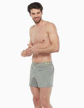 Short boxer tessuto tecnico tinto filo, piedpoule grigio, , LOVABLE