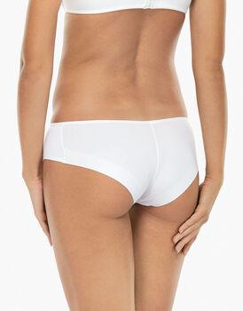 Culotte a vita bassa Invisible bianca in microfibra. Massima invisibilità-LOVABLE