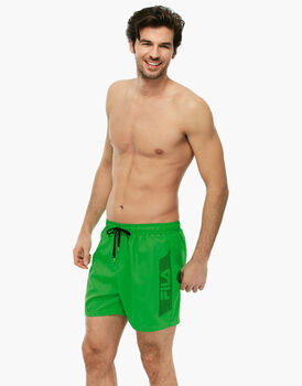 Boxer verde brillante in tessuto manopesca -LOVABLE