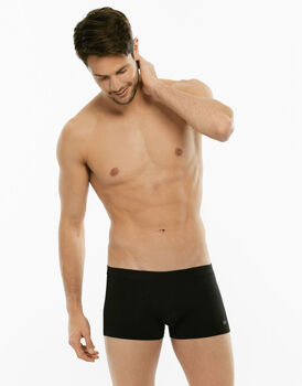Short boxer Cotton Stretch nero in cotone elasticizzato-LOVABLE