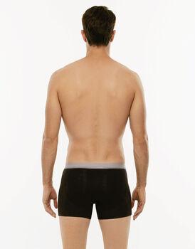 Bipack Boxer 3D Flex nero in tessuto 3D Flex extra stretch e cotone elasticizzato-LOVABLE