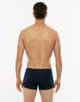 Short boxer Cotton Stretch grigio blu in cotone elasticizzato-LOVABLE