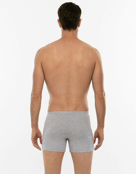 Boxer parigamba 100% Pure Cotton grigio melange in cotone-LOVABLE