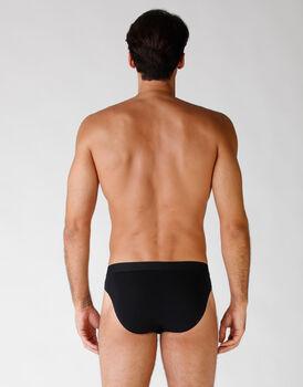 Bipack slip in cotone elasticizzato, nero, , LOVABLE