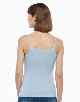 Top in viscosa, azzurro, , LOVABLE
