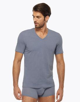 T-shirt con scollo a V, azzurro polvere, , LOVABLE