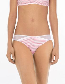 Slip a righe rosa in cotone elasticizzato-LOVABLE