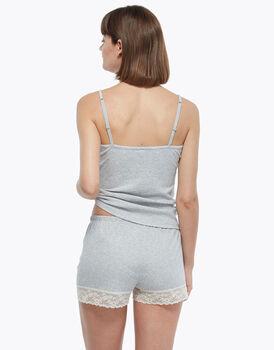 Short grigio melange, in cotone, , LOVABLE