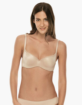 Reggiseno ferretto a balconcino con imbottitura Power Lift, skin, in microfibra. Effetto lifting-LOVABLE