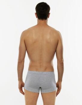 Short boxer Cotton Stretch grigio melange in cotone elasticizzato-LOVABLE
