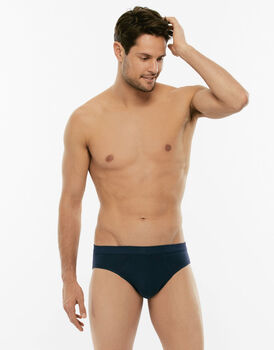 Slip mini Cotton Stretch blu in cotone elasticizzato-LOVABLE