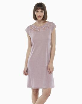 Camicia da notte in modal, rosa malva, , LOVABLE