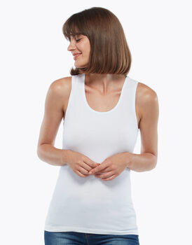 Top Basic Soul bianco in cotone supima-LOVABLE