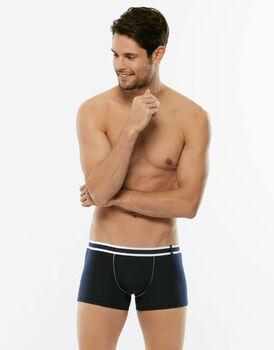 Short Boxer Easy Trend blu in cotone elasticizzato-LOVABLE