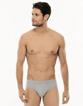 Slip midi Cotton Stretch grigio in cotone elasticizzato-LOVABLE
