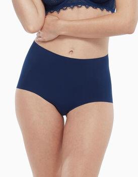Culotte vita alta, blu, in microfibra con vita e sgambatura invisibili tagliate al vivo, , LOVABLE