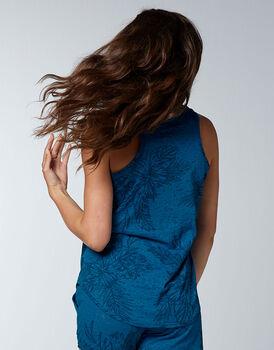 Smanicato pigiama Printed Devorè, blu zaffiro, , LOVABLE