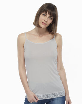 Top in cotone modal, grigio chiaro, , LOVABLE