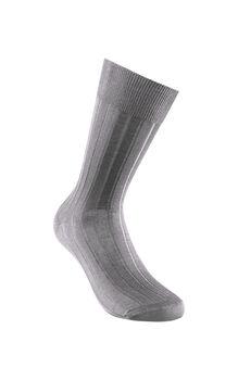 Calzino costina corto grigio scuro in filoscozia-LOVABLE