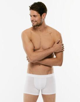 Short boxer Cotton Stretch bianco in cotone elasticizzato-LOVABLE