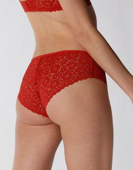 Culotte in pizzo elastico, rosso, , LOVABLE