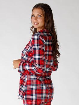 Casacca del pigiama aperta tartan, 100% cotone, , LOVABLE