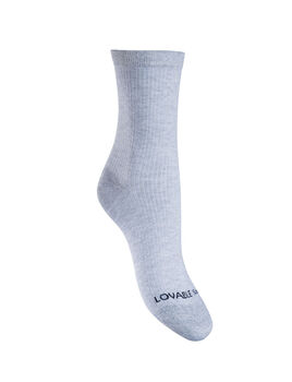 Calza corta donna grigio chiaro melange con dettagli in lurex-LOVABLE