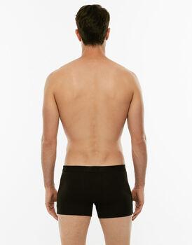 Short boxer Cotton Stretch nero in cotone elasticizzato-LOVABLE