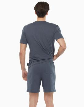 Pigiama corto in jersey, grigio melange, , LOVABLE