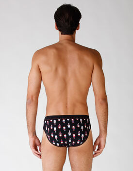 Slip black con stampa gnomo all over, , LOVABLE