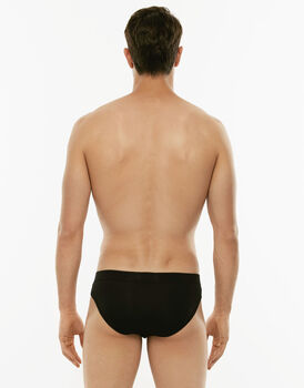 Slip mini Cotton Stretch nero in cotone elasticizzato-LOVABLE