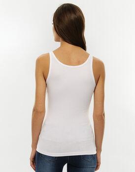 Top spalla larga Basic Soul, bianco in cotone supima-LOVABLE