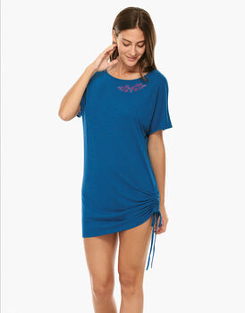 Maxi T-shirt Blu zaffiro in viscosa-LOVABLE