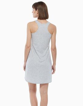 Camicia da notte in jersey di cotone, grigio melange, , LOVABLE