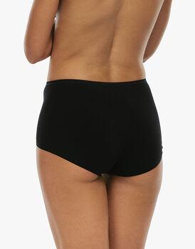 Slip maxi lovely, nero in cotone soft, , LOVABLE