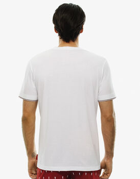 T - shirt manica corta bianca, in cotone, , LOVABLE